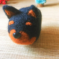 Handmade Needle felted dog felting kit project Animals Chihuahua cute for beginners starters