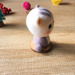Handmade Needle felted felting kit project Animals cat cute for beginners starters