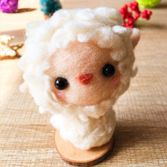 Handmade Needle felted felting kit project Animals lamb sheep cute for beginners starters