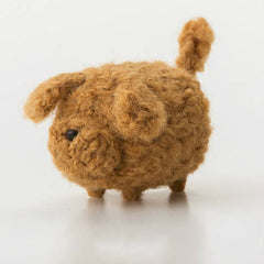 Handmade felted felting project cute animal Irish Setter dogs puppy felted wool doll