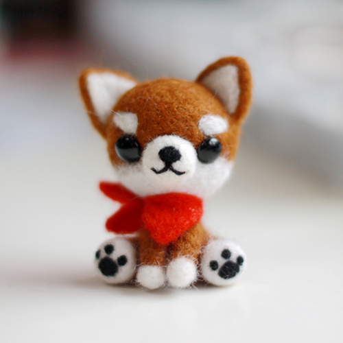 Needle felted chihuahuafelted puppy dollcute little animalsneedle felted animalfantasy animal doll