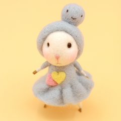 Handmade Needle felted felting project animal constellation cute mouse mice Gemini felted wool doll