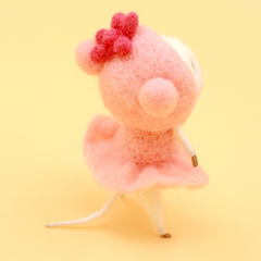 Handmade Needle felted felting project animal constellation cute mouse mice Virgo felted wool doll