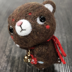 Handmade needle felted felting cute animal project bear bunny felt doll