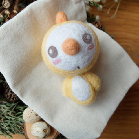 Handmade Needle felted felting project animal cute Christmas snowman chicken felted wool doll