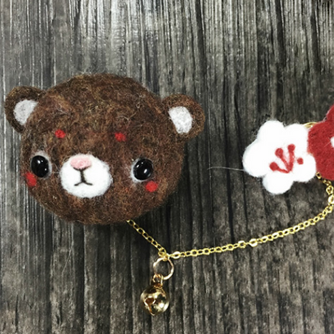 Needle Felted project felting Crafts animal bear bunny Jewelry Brooch