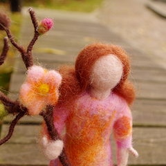Handmade Needle felted felting project christmas ornament fairy mother queen felted doll