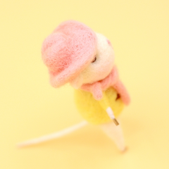 Handmade Needle felted felting project animal constellation cute mouse mice sagittarius felted wool doll