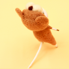 Handmade Needle felted felting project animal constellation cute mouse mice Leo felted wool doll