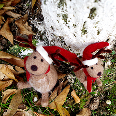 Handmade Needle felted felting project christmas ornament reindeer felted doll