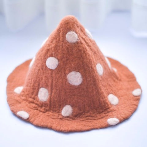Handmade felted needle felted Bambi deer witch wool Hat Halloween costume witch costume