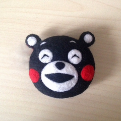 Needle Felted Felting Animals Bear Kumamon Cute Craft brooch accessories
