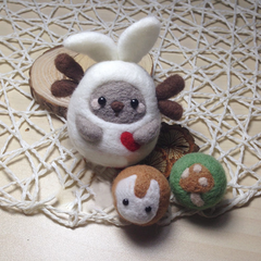Needle Felted Felting Animals white bunny Cute Craft Handmade doll