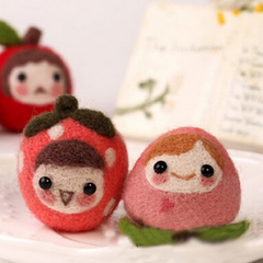 Handmade needle felted felting cute fruit project doll accessories toy