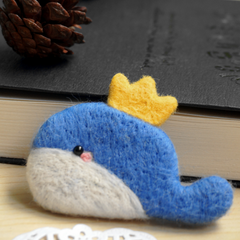 Needle Felted Felting Animals Fox whale Cute Craft brooch accessories