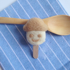 Handmade needle felted felting cute project ice cream popsicle key charms
