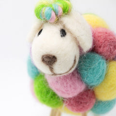 Needle Felted Felting project Animals Sheep Color Cute Craft