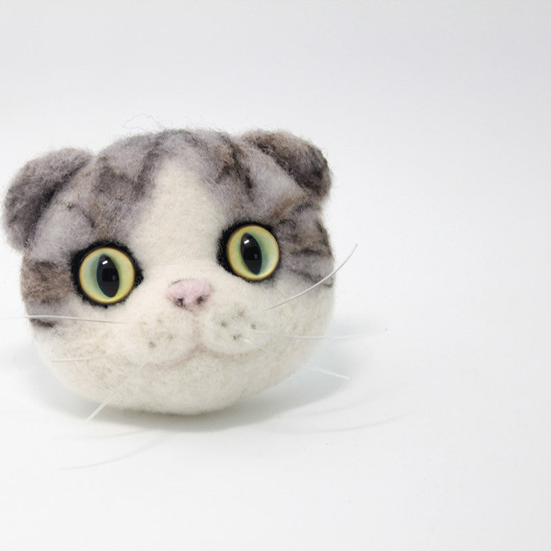 Needle Felted Felting project Animals Cat Kitten Cute Brooch