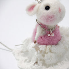 Needle Felted Felting project Animals Cute Mice Mouse Princess