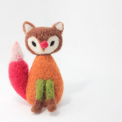 Needle Felted Felting project Animals Foxes Triplet Cute