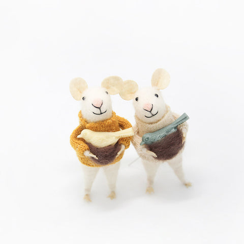 Needle Felted Felting project Animals Mice Mouse Brother Twins