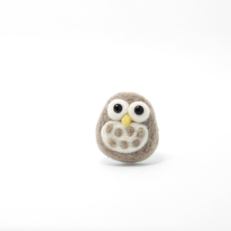 Image of: Owl Cafe Needle Felting Felted Animals Owl Cute Brooch Jewelry Feltify Needle Felting Felted Animals Owl Cute Brooch Jewelry Feltify