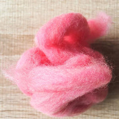 Needle felted supplies wool felting Pink wool Roving for felting short fabric