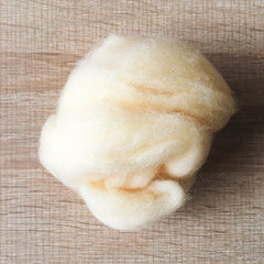 Needle felted wool felting butter yellow wool Roving for felting supplies short fabric easy felt
