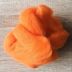 Needle felted supplies wool felting Yellow wool Roving for felting short fabric