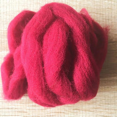 Needle felted supplies wool felting Red wool Roving for felting short fabric