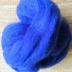 Needle felted wool felting Blue Cerulean wool Roving for felting supplies short fabric easy felt