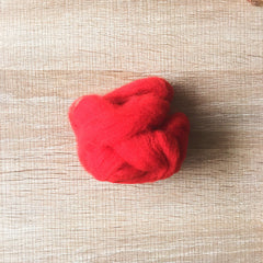 Needle felted wool felting Christmas Red wool Roving for felting supplies short fabric easy felt