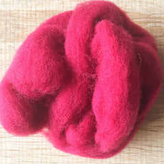 Needle felted wool felting Cranberry Red wool Roving for felting supplies short fabric easy felt