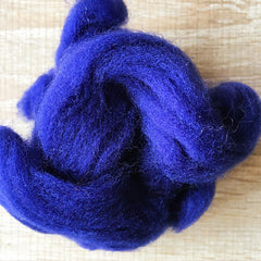 Needle felted wool felting Blue Dark Blue Purple wool Roving for felting supplies short fabric easy felt