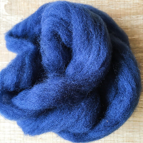Needle felted wool felting Blue Dark Blueberry  wool Roving for felting supplies short fabric easy felt