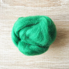 Needle felted wool felting Green Christmas wool Roving for felting supplies short fabric easy felt