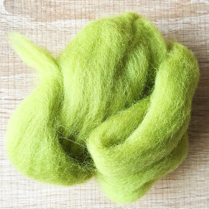 Needle felted wool felting Green Grass wool Roving for felting supplies short fabric easy felt