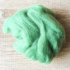 Needle felted supplies wool felting Green wool Roving for felting short fabric