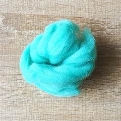 Needle felted wool felting Green Mint wool Roving for felting supplies short fabric easy felt