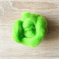 Needle felted wool felting Green Monster wool Roving for felting supplies short fabric easy felt