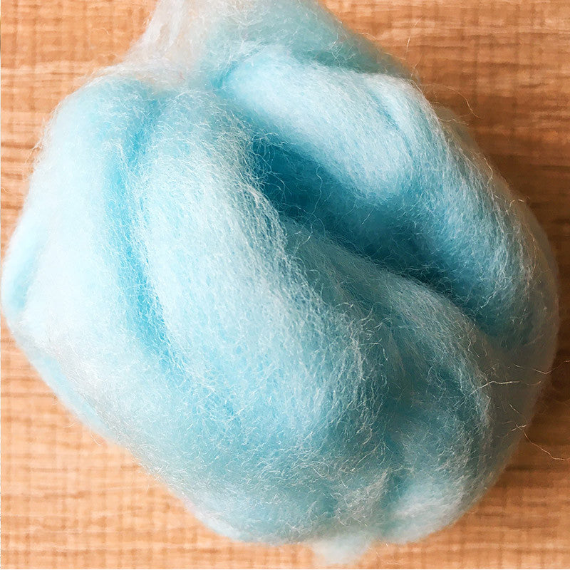 Needle felted wool felting Green New Water wool Roving for felting supplies short fabric easy felt