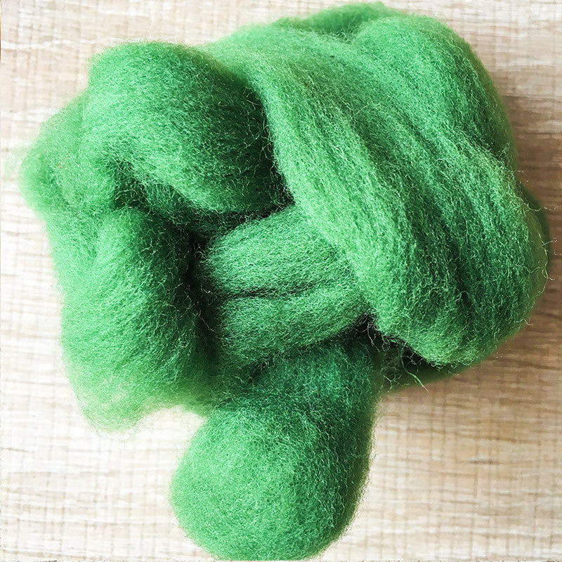 Needle felted wool felting Green Pine wool Roving for felting supplies short fabric easy felt