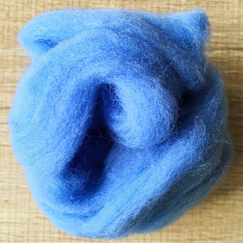 Needle felted wool felting Blue Sailor Blue wool Roving for felting supplies short fabric easy felt