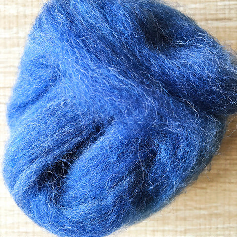 Needle felted wool felting Blue Mix Jean wool Roving for felting supplies short fabric easy felt