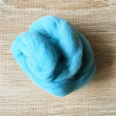Needle felted wool felting Blue Mix blue wool Roving for felting supplies short fabric easy felt