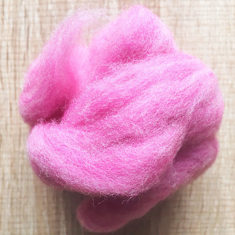 Needle felted wool felting Mixed Perilla pink wool Roving for felting supplies short fabric easy felt