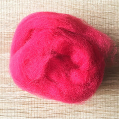 Needle felted wool felting Ruby Red wool Roving for felting supplies short fabric easy felt