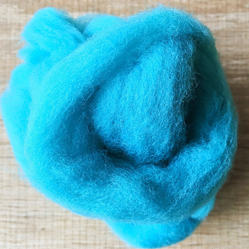 Needle felted wool felting Blue Sullivan Blue wool Roving for felting supplies short fabric easy felt