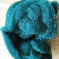 Needle felted wool felting Woods Green wool Roving for felting supplies short fabric easy felt