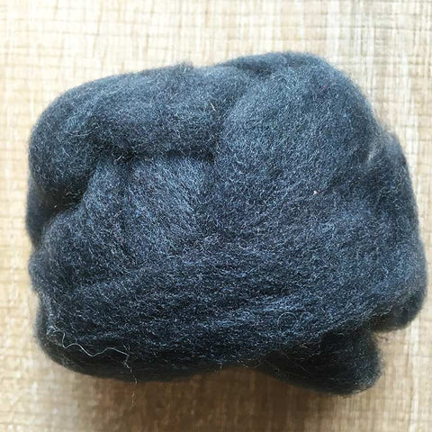 Needle felted wool felting dark gray wool Roving for felting supplies short fabric easy felt